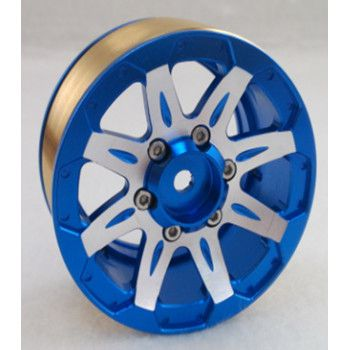 "1.9"" Beadlock Rims Blue 7 Spoke 2pcs"
