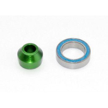Traxxas Bearing Adapter Alu Green TRX6893G