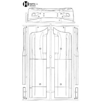 Freightliner Cascadia Sideskirts Parts H (H / 19000655) 1/14