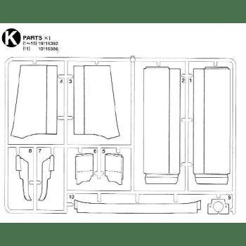 Freightliner Cascadia Spoilers Parts K (K / 19115392) 1/14
