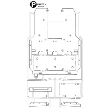 Freightliner Cascadia Bottomplate Parts P (P / 19115394) 1/14