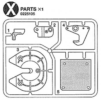 Tamiya Parts X (X / 0225105) 1/14