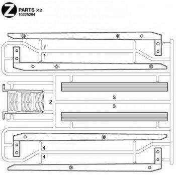 Volvo FH16 Log Frame Parts (Y / 10225284) 1/14
