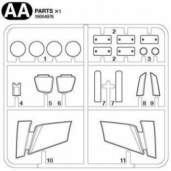 Volvo FH16 Headlight Glass Parts (AA / 19004976) 1/14