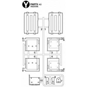 Volvo FH16 Rear Fenders Parts (Y / 19225196) 1/14
