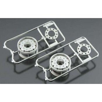 Supersingle Wheels Mat Chrome 2pcs (56520) 1/14