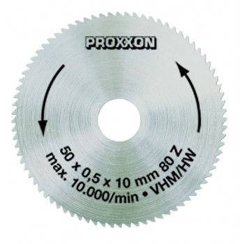 Proxxon Solid Carbide Saw Blade 80t 50mm