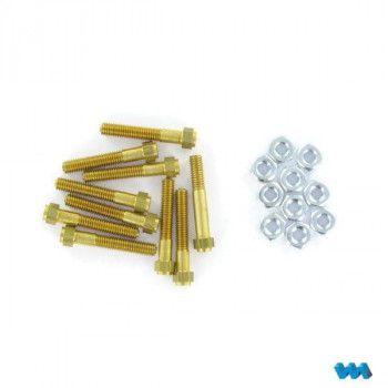 Cap Bolts Brass M3x25 10pcs (1/8) 220256