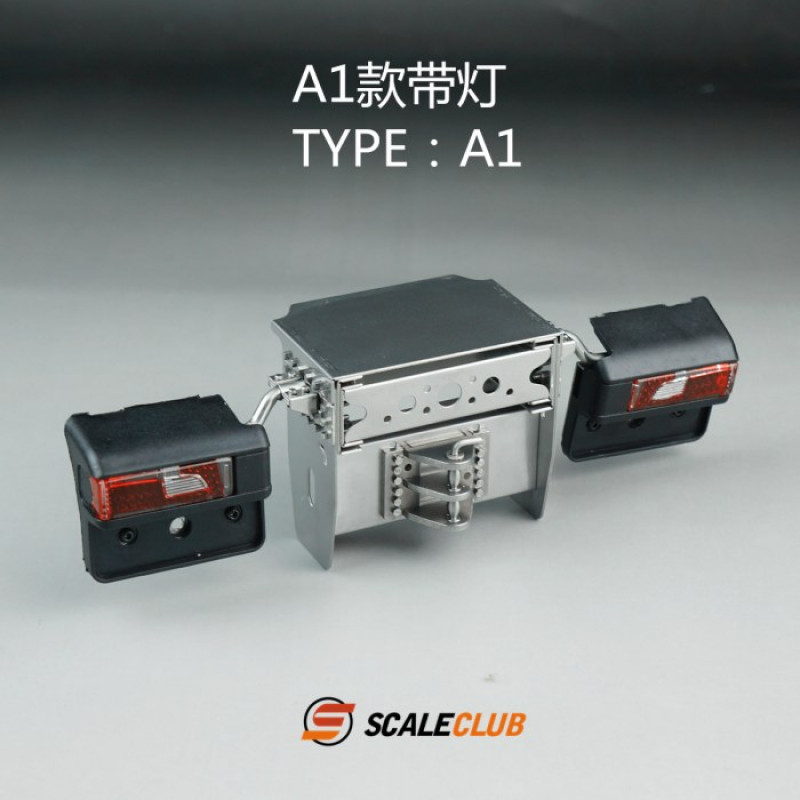 Scaleclub Stainless Frame End Scania A1 (1/14)