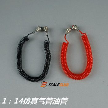 Scaleclub Airhoses Red and Black (1/14)