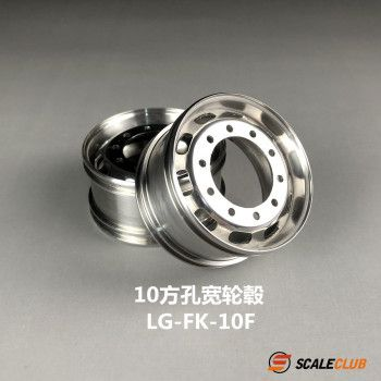 Scaleclub Stainless Front Rims 10 Square Holes (1/14)