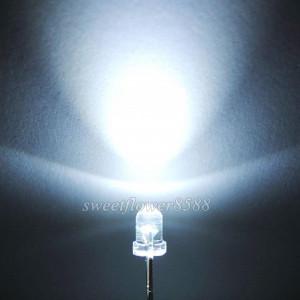 3mm LED White 25 Degree